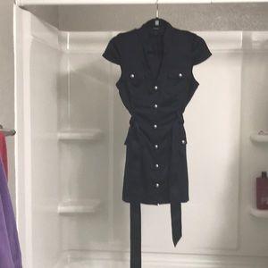 Super cute navy blue express size 4 dress